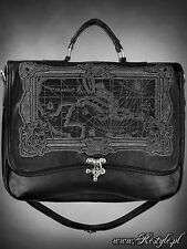 Restyle Map Black Carribbean Sea Ocean Gothic Black Bag Purse Satchel Handbag