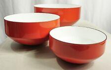 COPCO MICHAEL LAX DESIGN Enamelwear Bowls (Set of 3) Vintage Orange Switzerland