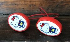 Vtg Sanrio Hello Kitty Hair Accessory Ponytail Pigtail Band Holder Red Pair 1976
