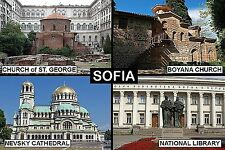 SOUVENIR FRIDGE MAGNET of SOFIA BULGARIA