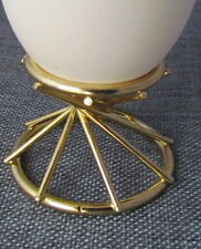 Brass Easter Hen Goose Egg Stand,Pysanky Sphere/Ball Holder,Swirl Design,1 3/4""