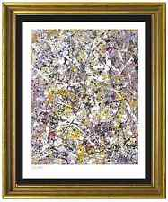 "Jackson Pollock Signed & Hand-Numbered Limited Ed ""Number 1"" Lithograph Print"