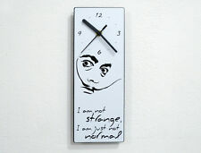 Dali Quote - I am not Strange, I am just not Normal - Wall Clock