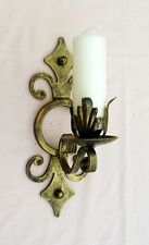 WROUGHT IRON CANDLE WALL SCONCE/HOLDER LARGE H/WEIGHT