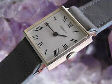 Gubelin Vintage 14K White Gold Ladies Wrist Watch