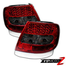 1996-2001 A4 00-02 S4 Audi 4DR Sedan Rear Red Smoke LED Tail Lights Brake Pair