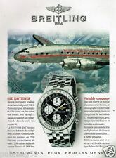Publicité advertising 1997 La Montre Breitling Old Navitimer