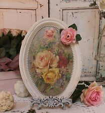 "~ French ~ Country ~ Chic ~ Decorative ~ Vanity Metal Tray Vintage ""Fleurs""... ~"