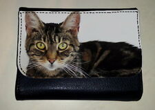 TABBY CAT MONEY PURSE WALLET PET ANIMAL LOVER PHOTO FAN GIFT