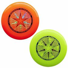 Discraft UltraStar 175g Ultimate Frisbee Sport Disc (2 Pack) ORANGE/YELLOW