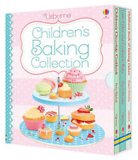 Usborne Children Baking Collection Box Set, Chocolate Cookbook, Baking Cakes and