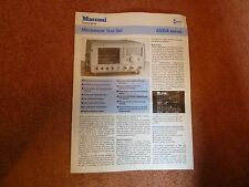 MARCONI  6200A  Microwave Test Set - Sales Literature - specification sheet
