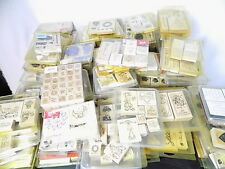 Huge Lot of 763 Stampin Up Ink Pads Loose Rubber Stamps Stamp Sets -New & Used