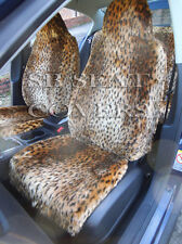 NISSAN MICRA CAR SEAT COVERS GOLD CHEETAH FURRY FAUX FUR FULL SET SBFCS005