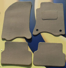 RENAULT GRAND SCENIC 2009 on QUALITY BEIGE CARPET CAR MATS + 2 CLIPS