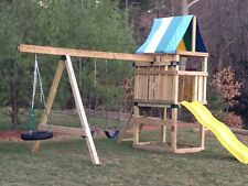 New Do It Yourself Swing Set Play Ground Parts Kit for Backyard Kids Outdoor Fun