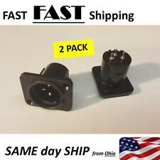 2 PACK -  XLR Male Plug Panel Chassis socket for Microphone guitar charger 3pin