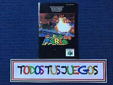 Manual Super Mario 64 Nintendo 64 N64 BUENA CONDICION