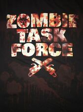 Zombie Task Force Adult Men's Small Black T-Shirt
