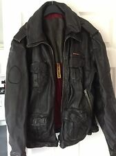 Superdry Leather Jacket XXL Dark Brown