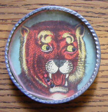 "Russian Siberian Tiger 1.5"" Tin Dexterity Game Puzzle w/Mirror Early WWI Germany"