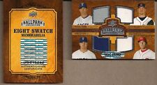 UD '08 BALLPARK COLLECTION 8 SWATCH GU JERSEY CARD RANGERS ASTROS YOUNG OSWALT++