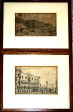 PAIRE DE GRAVURES FACSIMILES DE CANALETTO. REICHSDRUCKEREI BERLIN. AVANT 1950