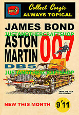 Corgi Toys James Bond Aston Martin DB5 261 A4 Size Poster Advert Sign Leaflet