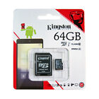 KINGSTON 64GB MICRO SDHC Class 10 UHS 1 SD Card & Adapter SDC10G2/64GBFR