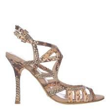 Nuevo Sexy UK5 EU38 Cuero MENBUR Piel De Serpiente Sandalias Zapatos + Caja + Bolsa De Polvo RP £ 150