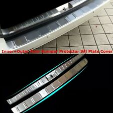 For Toyota Sienna 2011-2015 Outer+Inner Rear Bumper Protector Sill Plate Cover