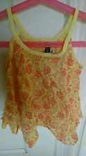 Jean bourget girl 4 top yellow pink floral stunning cotton