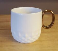 Starbucks 2013 Coffee Mug White Diamond with Copper Handle