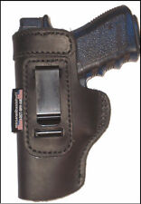 S&W M&P Shield Leather Holster For Left Hand Inside The Waistband - 9mm Shield