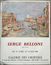 Affiche EXPO SERGE BELLONI Galerie des Orfèvres 1984
