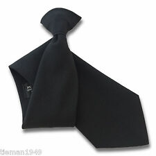 MATT BLACK guardia di sicurezza o Bouncer Clipper Clip Su SNAPPER Cravatta uniforme