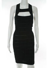 STELLA MCCARTNEY Black Strappy Scoop Neck Bodycon Dress Est. Sz S