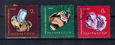 Russland Briefmarken 1963 Halbedelsteine Mi.Nr.2846-48