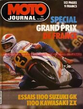 MOTO JOURNAL  599 SUZUKI GS 1100 GK KAWASAKI GPZ ZX ; GP de France au MANS 1983