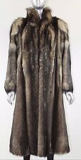 FENDI RUNWAY COUTURE BLACK & BLONDE FITCH MINK FUR LONG COAT - MEDIUM