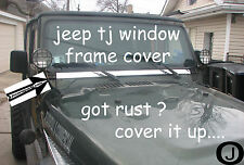 JEEP TJ WRANGLER DIAMOND PLATE WINDOW FRAME COVER