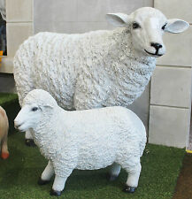 Large Sheep Lamb Garden Ornament Statue Patio Outdoor Animal Figure Life Size