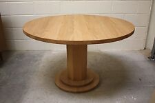 1200mm / 120cm SOLID OAK ROUND PEDESTAL LEG TABLE - HAND CRAFTED - MADE TO ORDER