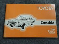 1980 Toyota Cressida Owners Manual