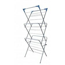 3 Tier Folding Clothes Airer Towel Dryer Concertina Laundry Horse Indoor Outdoor