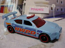 2014 Hot Wheels DODGE CHARGER DRIFT☆Lgt Blue☆HWPD 822 Police☆LOOSE☆Rescue