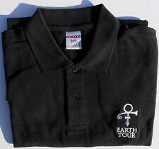 PRINCE Earth Tour Staff Polo Work Shirt Rare 2007 London official One Only!