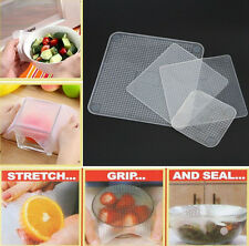 4pcs/set Kitchen Accessory Tool Silicone Stretch and Fresh Re-usable Food Wraps