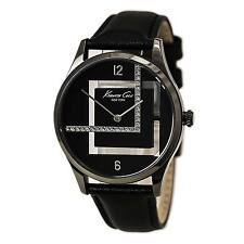 Kenneth Cole KC2876 Lady's Black Dial Black Leather Strap Watch