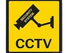 SECURITY CAMERA  WARNING STICKER - 100mm x100mm - Place Inside or Outside